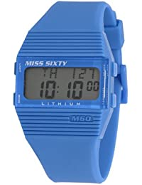 Miss Sixty Ladies Watch Sic004 In Collection Pyramidal with Digital Display and Blue Strap