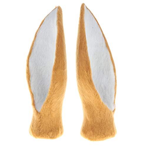 D DOLITY Plüsch Hirschohren Haarreif Haarband Haarschmuck, 13 x 5 x 3 cm