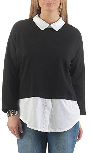 Malito Chemise Blouse CON Look D'Affaires 1130 Femme Taille Unique Noir
