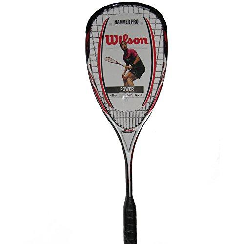 Wilson - WRT914930 - Raquette de Squash - Mixte Adulte - Multicolore (Blanc/rouge/noir) - Taille Uniqu
