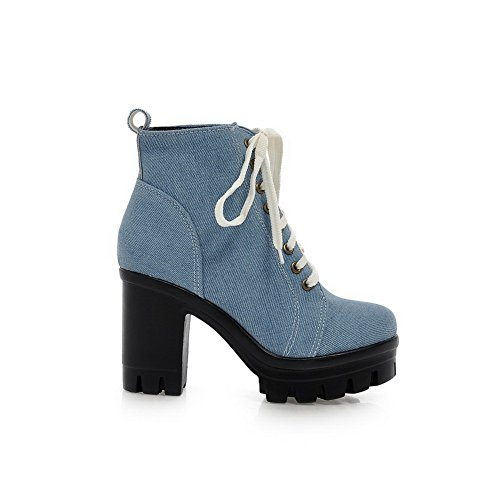 Sconosciuto 1TO9 - Sandali con Zeppa Donna LightBlue