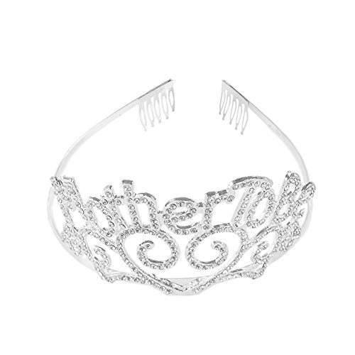 Preisvergleich Produktbild Z-synka Metal Mother To Be Silver Tiara Hearts Crown with Sparkling Rhinestones for Baby Shower Future Expecting Mom Accessory and Decorations Gift