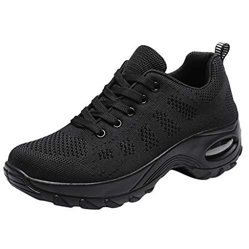 DAIFINEY Damen Turnschuhe Atmungsaktiv Straßenlaufschuhe Sportschuhe Air Fitness Sneaker Laufschuhe Mesh Ultraleicht Joggingschuhe Turnschuhe Walkingschuhe Traillauf Fitness Schuhe(Schwarz/Black,39)