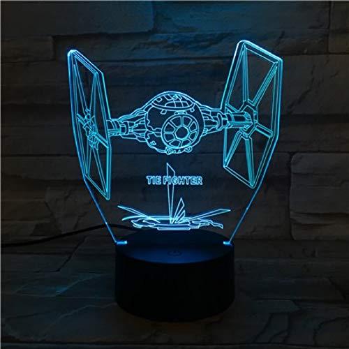 Rulaifozhu 3D Nachtlicht LED Nachtlicht Stern Fahrzeug Kämpfer für Kinder Raumdekoration...