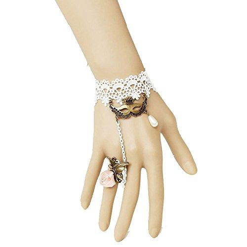 weiß Krone Singbet Kette M ¨ ¢ Scara Lace Armband mit Ring ()