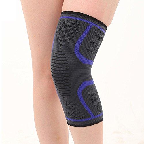 ghfashion Nützliche Kniebandage, zum Joggen, Sport, Gelenk, Schmerzlinderung, Kompression, 1 Stück S blau