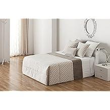 DECOARTESANAL-Conjunto Edredón Conforte OSAKA , para cama 150cm,color gris.