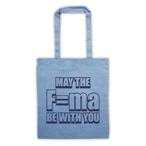 May The Force Be With You fisica Tote Bag Azzurro