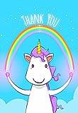 Pack de 10Unicorn diseño tarjetas de agradecimiento y sobres por Greetingles