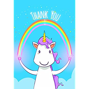Rachel Ellen Designs Pack Of 5 Unicorn Thank You Cards