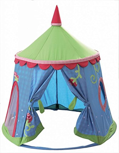 Preisvergleich Produktbild HABA Zelt Spielzelt Caro-Lini, blau/grün