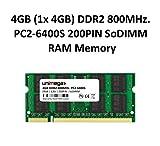 unimega® 4GB DDR2 800MHz PC2-6400S 200PIN 1,8V SoDIMM RAM Speicher Memory
