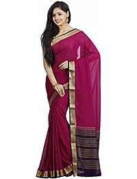 Sree Chandrakalaa Silk Kendra Crepe Silk Saree (1251_Meganta)