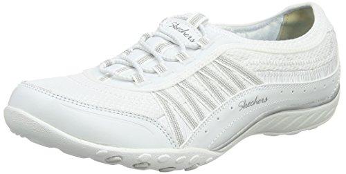 Skechers Damen Breathe Easy-Point Taken Sneaker, Weiß (White/Silver), 37 EU (Importiert Womens White)