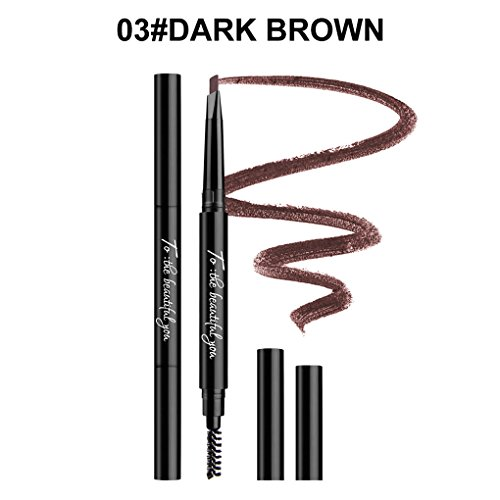 NAGETA 5 couleurs à deux têtes anti-sueur imperméable Crayon à Sourcils longue durée Stylos de maquillage des sourcils Republe