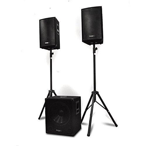 Ibiza Cube 1812Set Stereo (1x Subwoofer aktiv 46cm, 2x Lautsprecher Passive, 2x Stative, 1x Tragetasche für Stativ, 2x Speakon Kabel, 1x Adapter)