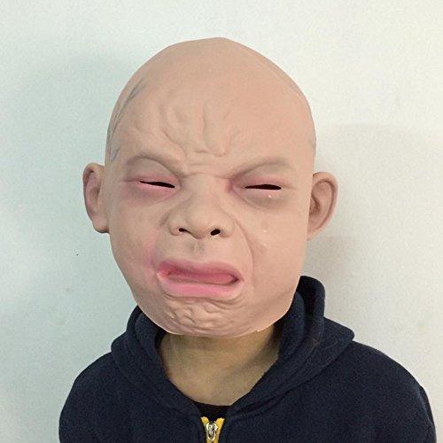 ustige Maske, Super grässlicher Funny Baby-Maske aus Latex Tierkostüm Spielzeug (Beängstigend Vintage Halloween-masken)