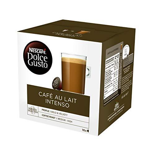 DOLCE GUSTO café con leche intenso 16 cápsulas caja 160 gr