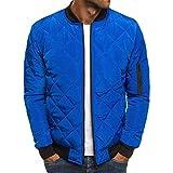 ShuangRun Mens Lightweight Winter Packable Puffer Varsity Jacket Outwear Jacket Coat Royal Blue L