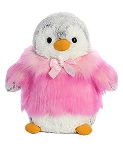 Aurora- Pompom Pingüino Chaqueta Rosa 23cm Peluches y muñecas, Color Blanco (74002)