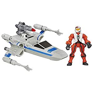Hasbro - B3702 - Hero Mashers - Star Wars : The Force Awakens - Resistance X-Wing & Pilote - Figurine Personnalisable + Véhicule