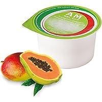 AM Gel Cup acquagel Frutti esotici con Edulcorante 24x 125g–Agua gelificata listo al uso 24tarros de 125g