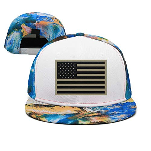 Zhgrong Caps Subdued Us Flag Tactical Infant Cap for Infant Fitted Hats