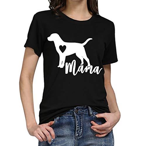 TWIFER Hund Gedruckt Shirt Damen Mädchen Plus Size Gedruckt Tees Shirts Kurzarm T Shirt Bluse Tops