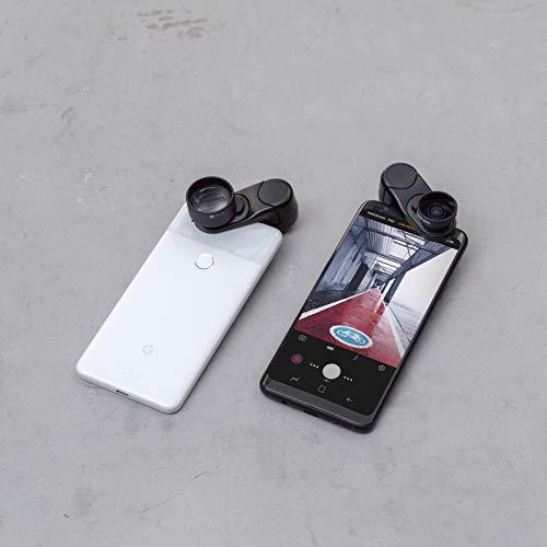 olloclip - Clip Universale Wide-Angle + Macro I Compatibile con iPhone e la Maggior Parte dei Dispositivi I Sistema di Aggancio per Lenti - Clip Nera