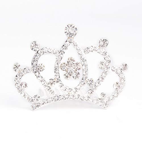 qingsb Haarspange/Diadem mit glänzender Krone und Strasssteinbesatz