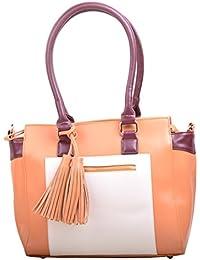 Hopping Street Multi color Faux Leather Women Handbag