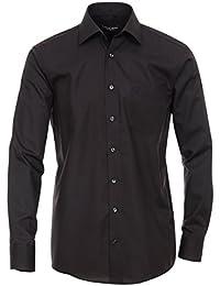 CASAMODA Herren Popeline Hemd Unifarben Extra Langer Arm 72cm 006052 Comfort Fit 100% Baumwolle