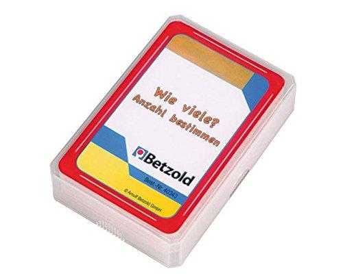 """Betzold 48 Karten """"Wie viele? Anzahl bestimmen"""", Kartenspiel, im praktischen und stabilen Kunststoffetui"""