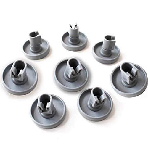 8 x Geschirrspülerrollen unten unten Korb Laufrollen & Clip Achse für Ikea 40 mm