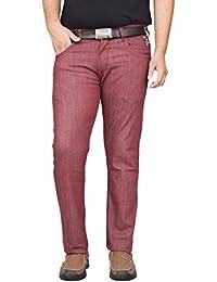 133d80118d British Terminal Maroon Jeanspants for Men Stylish Cotton Stretchable Slim  fit Men s Jeans