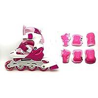Rollers pour Enfants - lot de protection complet - taille ajustable - 3 couleurs au choix