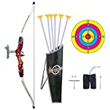 zuji arche et flèches enfant jeu de tir à larc avec cible carquois et flèches cadeau idéal pour