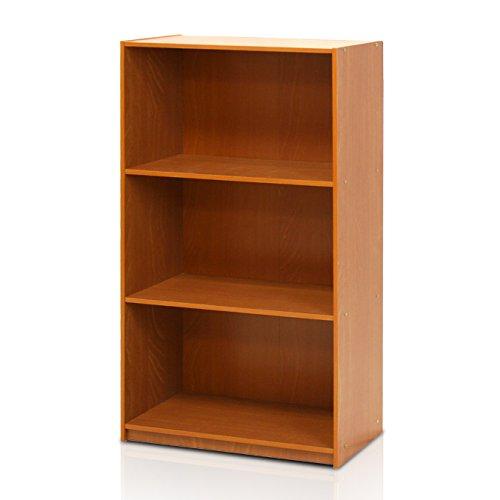 Furinno Grund 3tier Bücherregal-Abstellflächen, Licht Kirsche