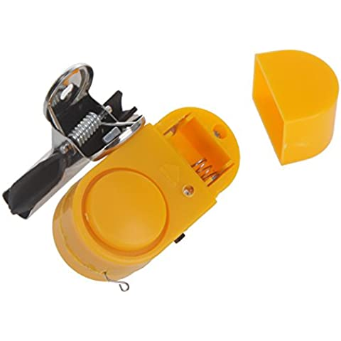 leryjoy (TM) UK Nuovo Canna da pesca notturna allarme antifurto allarme Bite Strike Pesce clip Campanello elettronico con luce LED