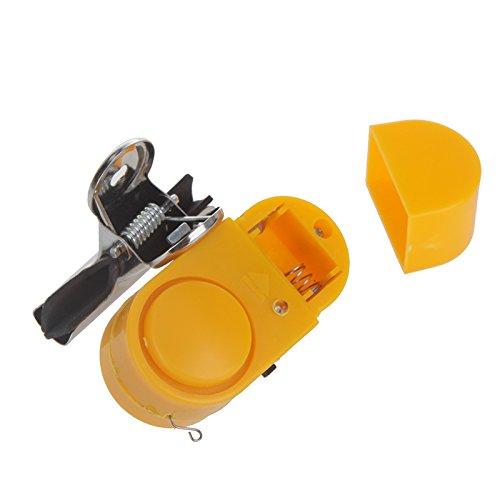 EverTrust (TM) UK Nuovo Canna da pesca notturna allarme antifurto allarme Bite Strike Pesce clip Campanello elettronico con luce LED