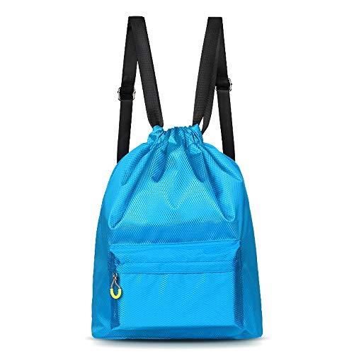 IU Schwimmsporttasche wasserdichte Strandtasche Mit Nasser Tasche Blue