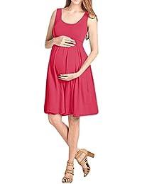 297195399b6e4 Keepwin Mujer Premamá Vestidos Ropa Corto Verano Lactancia Talla Grande