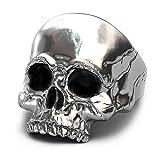 EVBEA anillo de calavera plata de motero grande para hombre para meñique ideal como regalo (12)