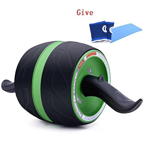 WANG Bauch Trainer Bauch Bauch-abdominalen Rad Rebound Jumbo Stumm 42 * 18 * 18 Cm,Green -