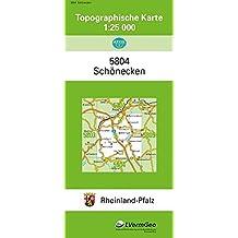 TK25 5804 Schönecken: Topographische Karte 1:25000 (Topographische Karten 1:25000 (TK 25) Rheinland-Pfalz (amtlich) / Mehrfarbige Ausgabe)