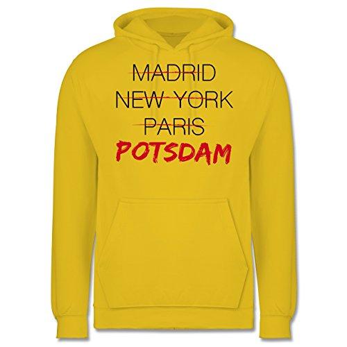 Städte - Weltstadt Potsdam - Männer Premium Kapuzenpullover / Hoodie Gelb