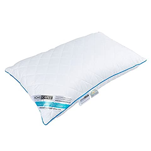 Homescapes Pocket Spring Pillow with Super Microfibre Filling, Firm Anti Allergenic Pillow