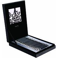 Knit Pro Karbonz - Juego de puntas para agujas de tejer en caja (15 piezas), color negro