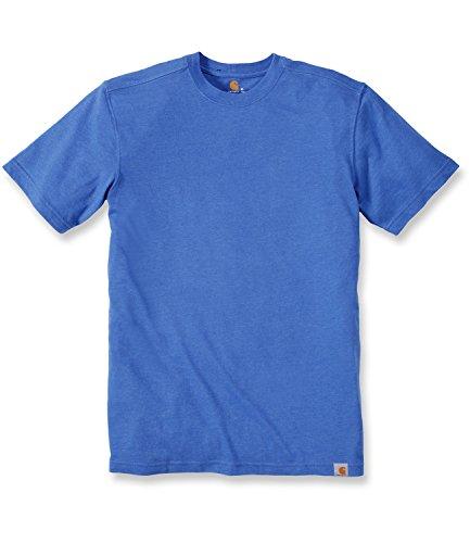 Carhartt Big & Tall Maddock kurzärmeliges T-Shirt Ohne Taschen für Herren, Tidal Blue Heather, Small -