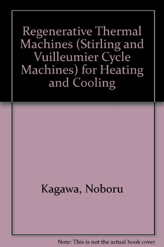 Regenerative Thermal Machines (Stirling and Vuilleumier Cycle Machines) for Heating and Cooling